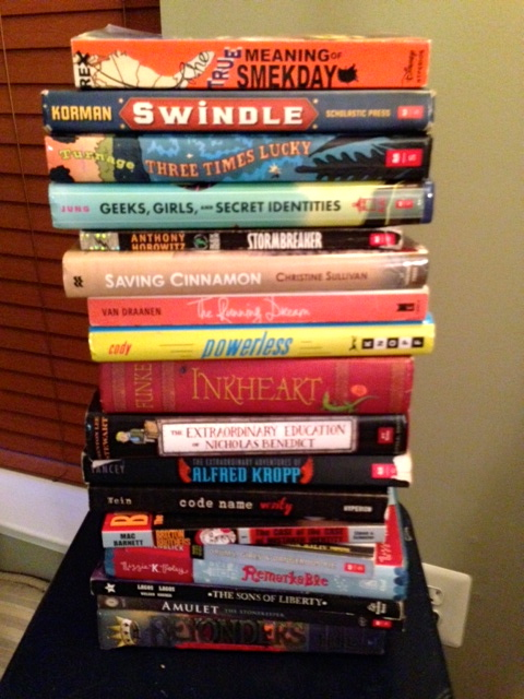 My TBR pile: that's a  pile of books To Be Read this summer.