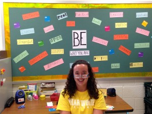 Be yourself! A beautiful bulletin board completed by Tori! Thanks Tori!