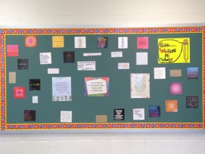 Bulletin board of quotes