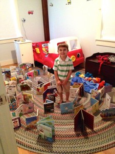 Jack surrounded by his books!