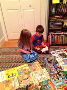 Jack reading to Jillian