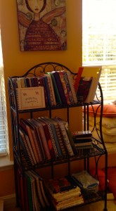 New bookcase of my writing notebooks