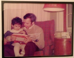 My dad reading to me when I was a little girl